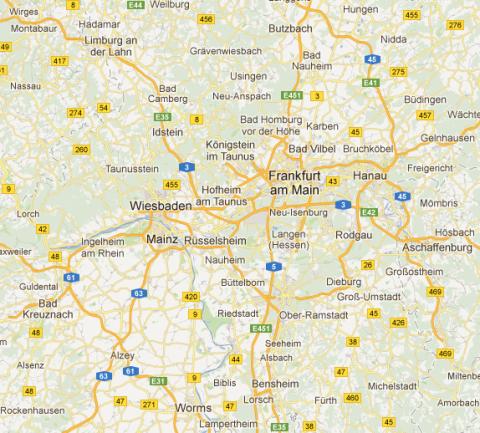 Wiesbaden, Frankfurt, Darmstadt, Mainz, Limburg, Bad Camberg, Idstein, Hofheim, Bad Homburg, Oberursel etc.